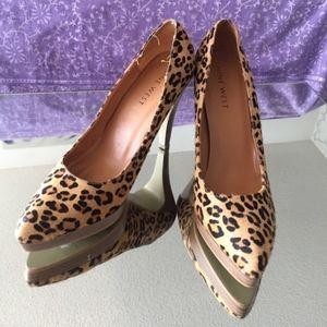 Nine West Leopard Heels🔥.